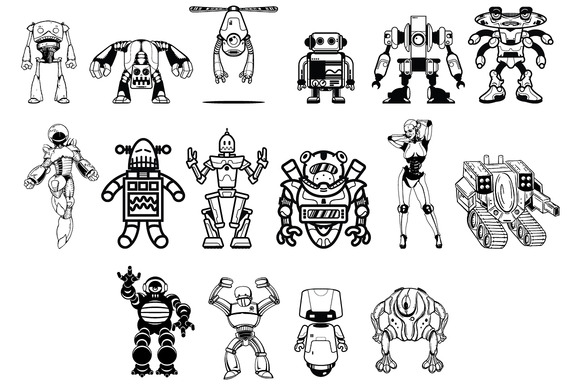 Robots Vector Pack by Go Media