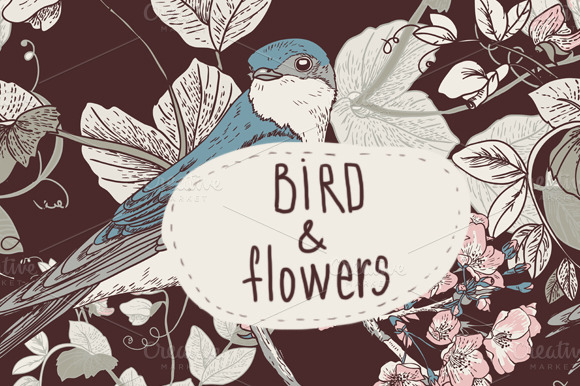 Birds and Flowers by Depiano
