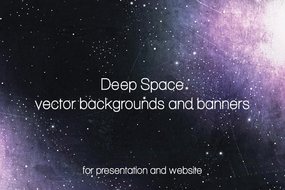 Deep Space backgrounds and banners by GrannyDesign