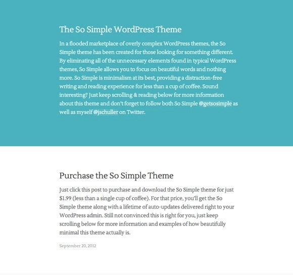 The So Simple WordPress Theme by Jason Schuller