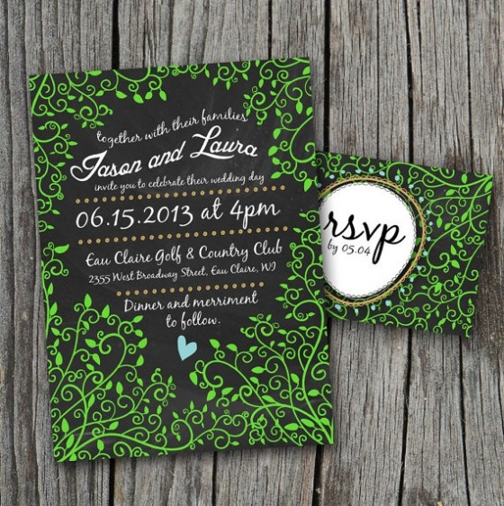 Design Your Perfect Wedding Invitations : Chalkboard ~ Creative ...