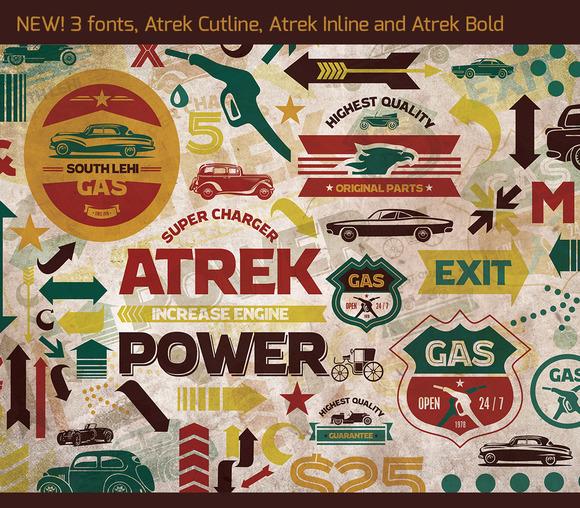 Atrek - Bold, Inline & Cutline by Stypeface
