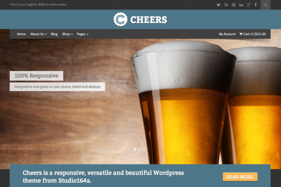 Cheers - Brewery & Restaurant Theme by Studio 164a