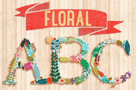 Floral Abecedary by Mia Charro