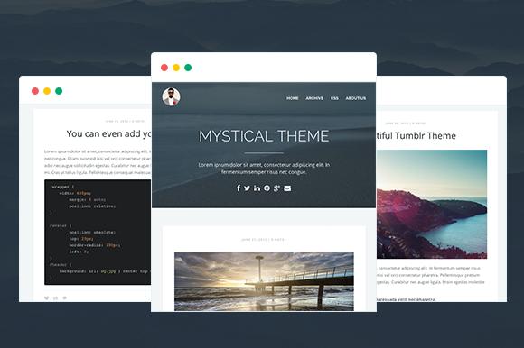 MYSTICAL - Multipurpose Tumblr Theme by ThemeUnivers