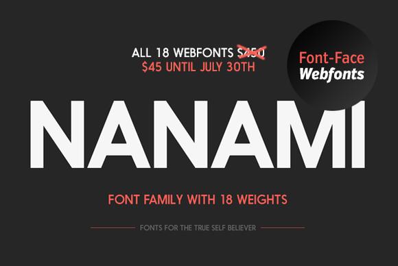 Nanami Webfont Family by HypeForType