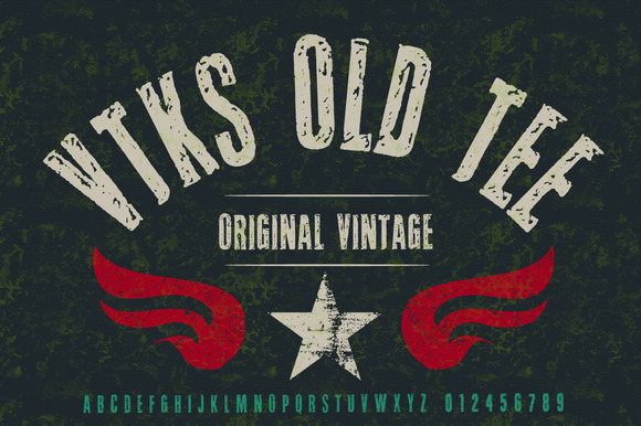 Old Tee Font by douglas vtks
