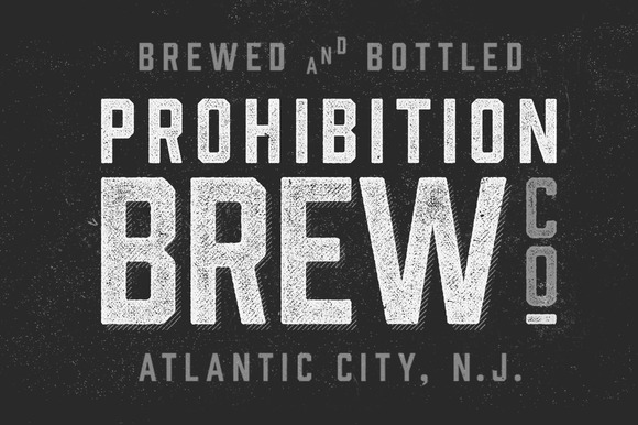 Prohibition Typeface by Hold Fast Foundry