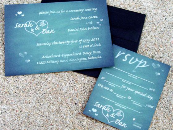 Perfect Wedding Invitations: Design Your Perfect Wedding Invitations : Chalkboard