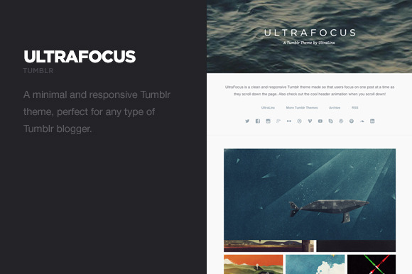 UltraFocus - Minimal Tumblr Theme by UltraLinx