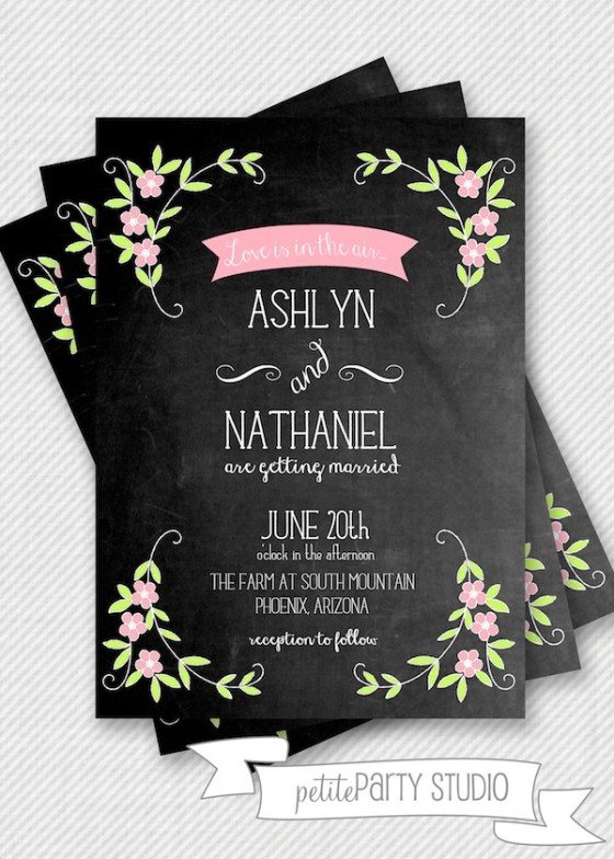 Design Your Perfect Wedding Invitations Chalkboard