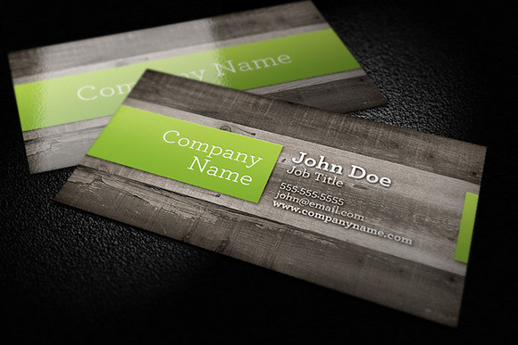 Wood Background Business Card by Design Panoply