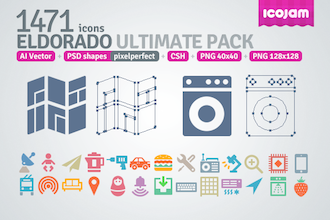1471 Icons in Eldorado Ultimate Pack by icojam