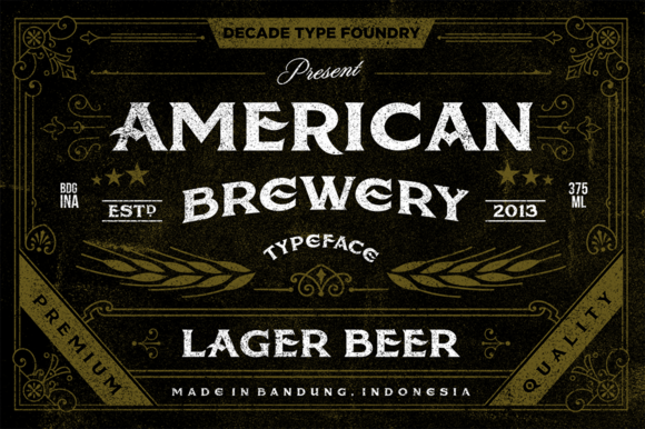 American Brewery Clean and Rough by Decade Type Foundry