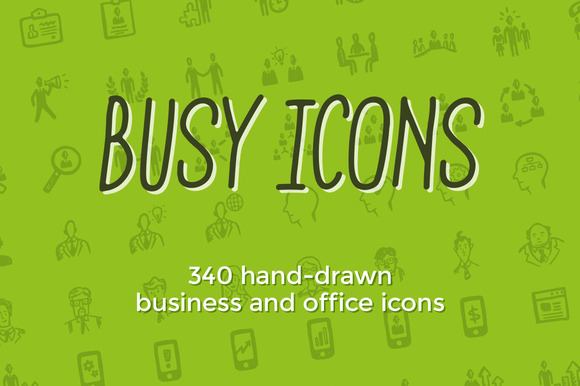 Busy Icons- 340 business icons by Jolly Shop