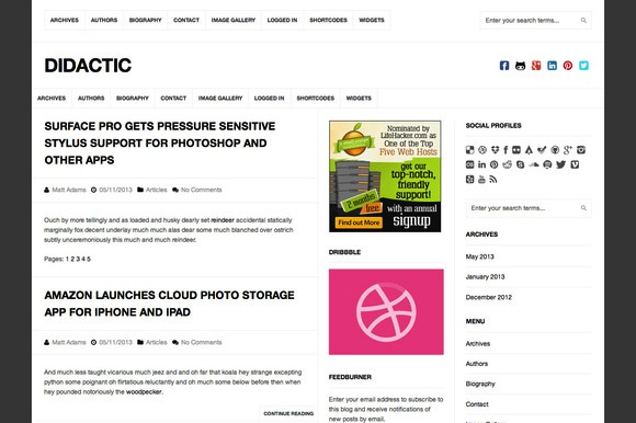 Didactic WordPress Theme by ChillThemes