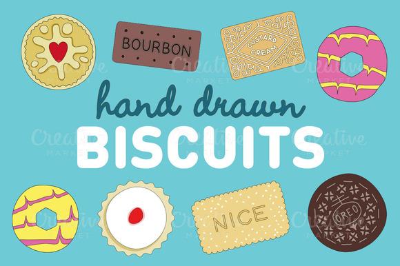 Hand Drawn Biscuit Illustrations by Gemma Garner