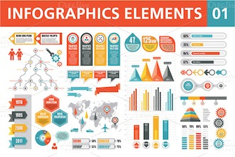 Infographics Elements 01 by serkorkin