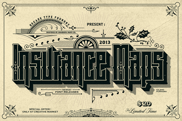 Insurance Maps Promo by Decade Type Foundry