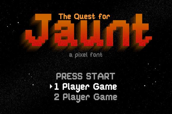 Jaunt 8bit Pixel Font by ste