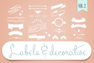 Labels & Decorative Vectors Vol2 by tomodachi