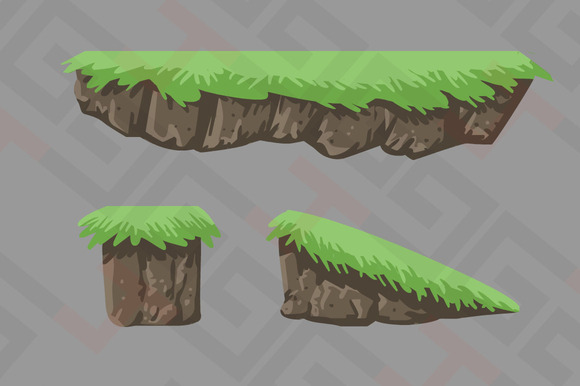 Platform with Grass by Graphics4Games