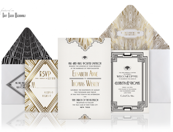 design your perfect wedding invitations: art deco/gatsby style,