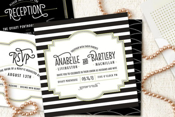 great gatsby wedding invitations by minted 1 - Great Gatsby Wedding Invitations