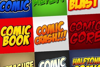 Comic Book Photoshop Styles Pack