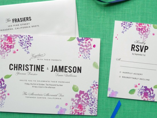 design your perfect wedding invitations: watercolor ~ creative, Wedding invitations