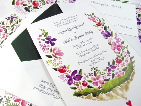 Watercolor-letterpress-invitations