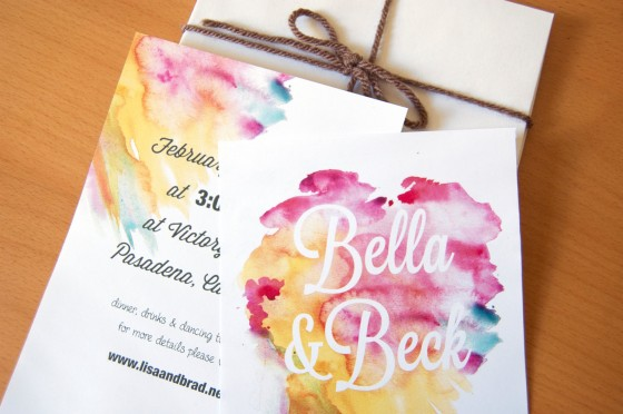 gorgeous watercolor wedding finds romantic invitations - Watercolor Wedding Invitations