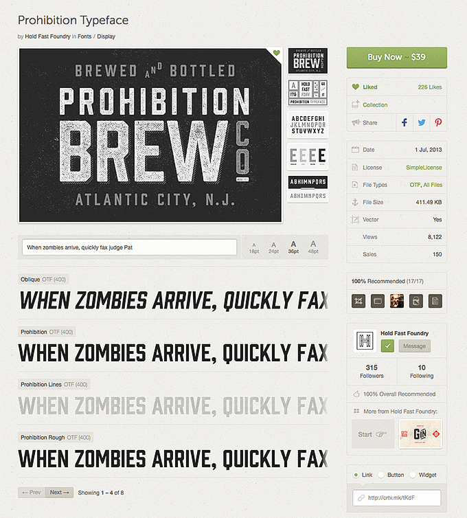 Prohibition Font Preview
