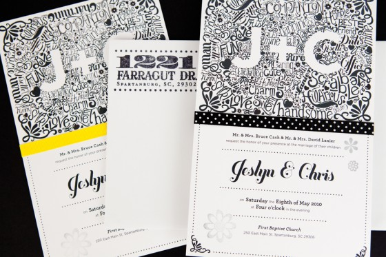 15 wedding invitations with unique typography creative market blog pin it stopboris Images