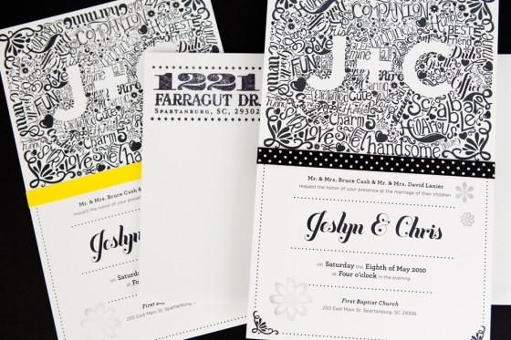 15 wedding invitations with unique typography ortaps blog modern illustrated wedding invitations stopboris Gallery