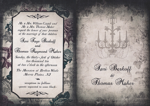 12 spooky wedding invites ~ creative market blog Gothic Wedding Invitations Templates 8087439674_dc922aa57a gothic wedding invitation templates