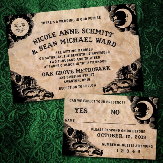 12 Spooky Wedding Invites ~ Creative Market Blog
