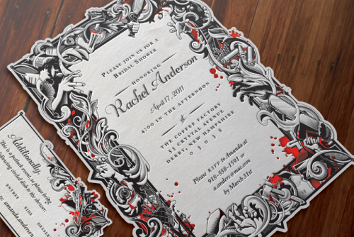 12 Spooky Wedding Invites Creative Market Blog