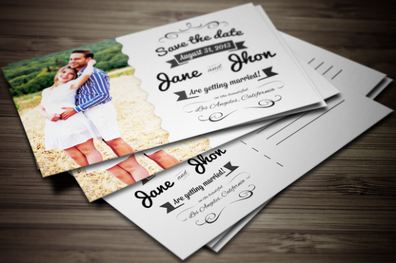 23 creative and unique wedding invitations creative market blog elegant wedding invitation postcardmockupprev f stopboris Images