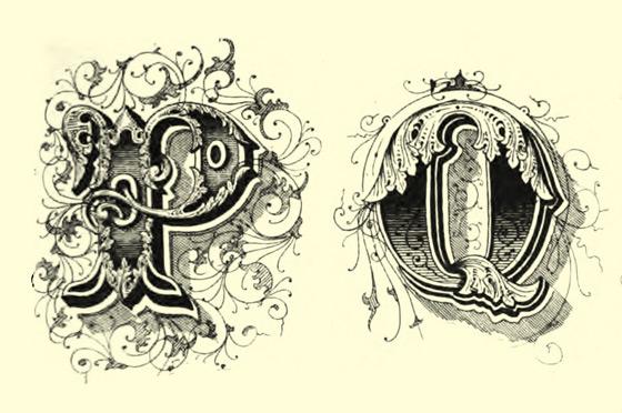 Victorian Decorative Drop Caps