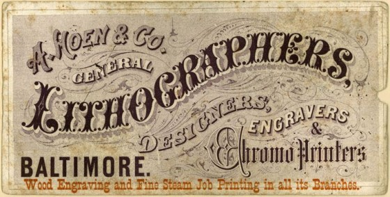 Lithographer's Trade Card
