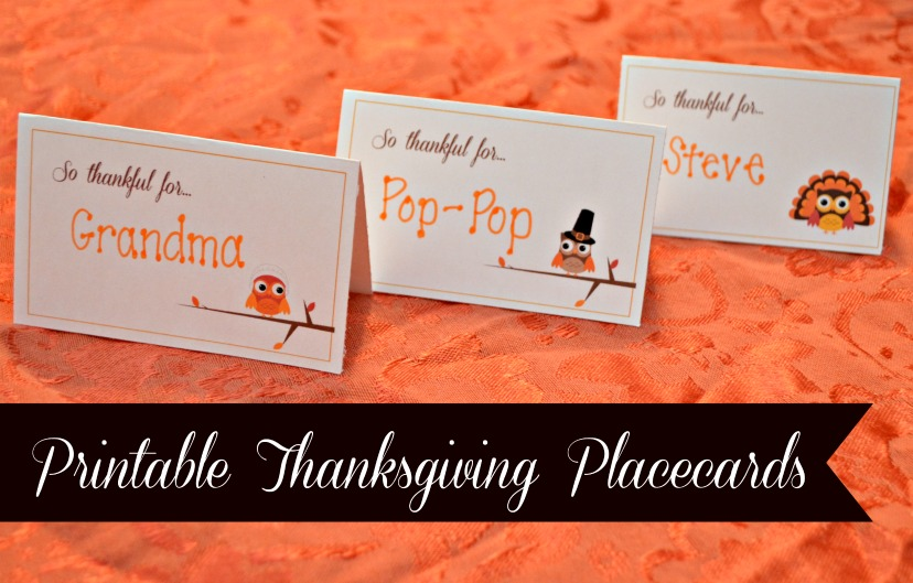 Striking image for thanksgiving place cards printable