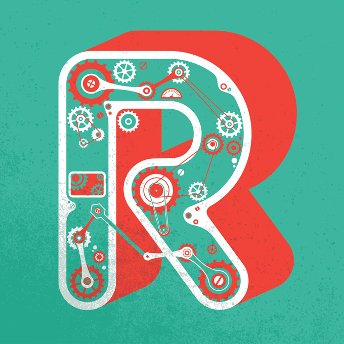 CreativeMarket ABCProject Letter R