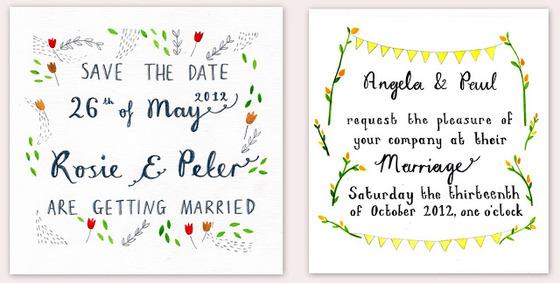 Wedding Trends 2014: Hand Illustrated Wedding Invites ~ Creative ...