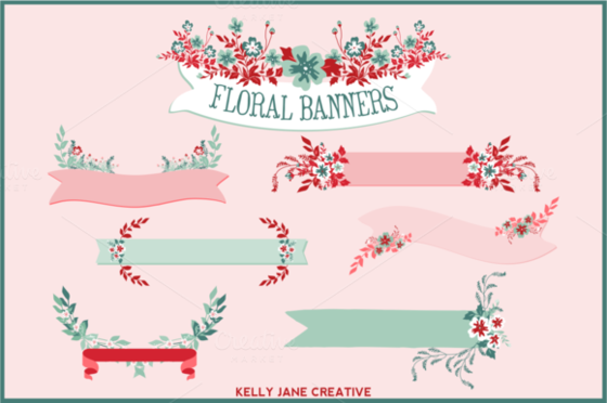 red-blue-floral-banners-f