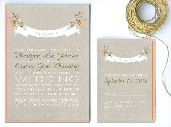 Rustic Wedding Invitations Banner Whimsical