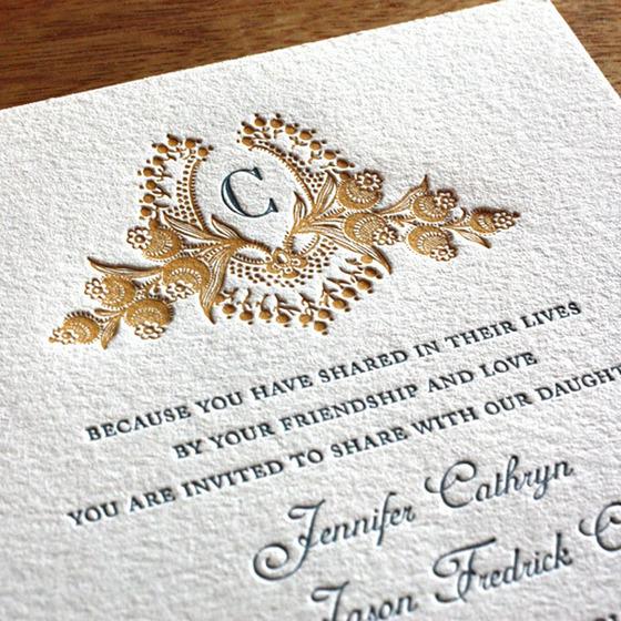 Golden Wedding Invitations Templates | alesi.info