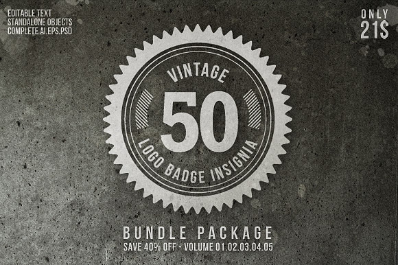 25 Beautiful Vintage Logo Templates Creative Market Blog