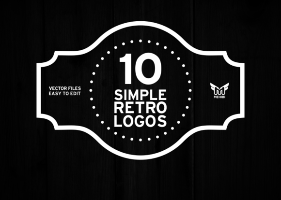 25 beautiful vintage logo templates creative market blog. Black Bedroom Furniture Sets. Home Design Ideas