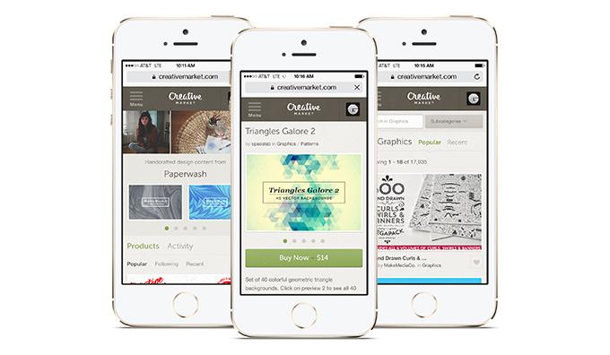 creative market mobile